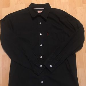 Levi s Shirts - Men s Long-Sleeve Black Levi s Button Down Size M d056d5737869